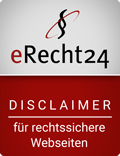 erecht24 siegel disclaimer rot